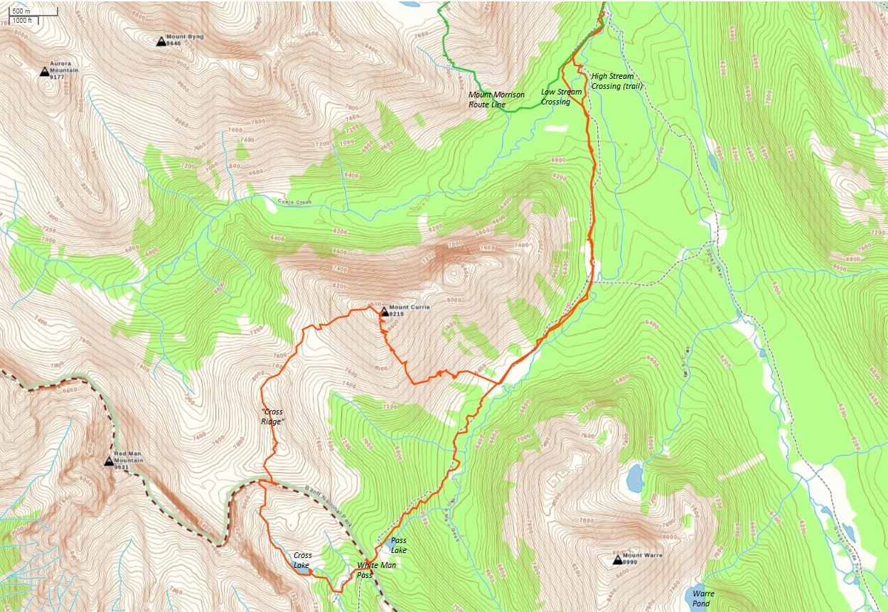 Mount Currie Route Map
