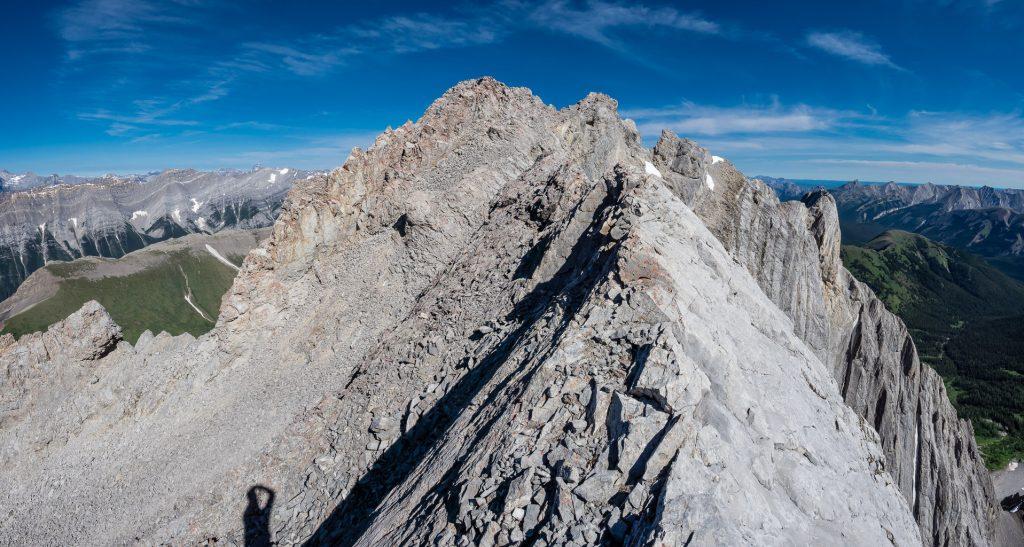 On the summit ridge of Mount Potts.