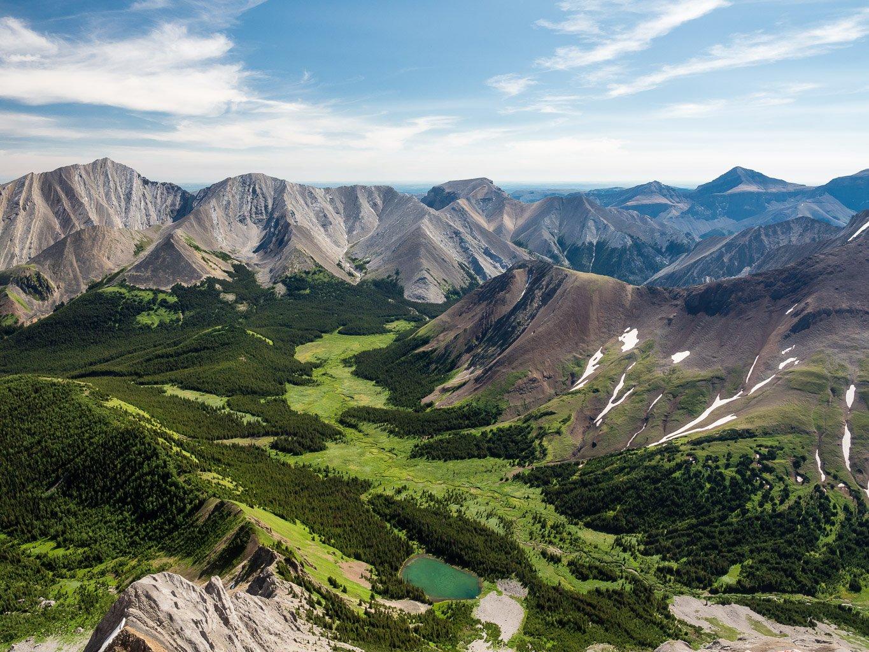 Gorgeous views off Mount Potts summit ridge.