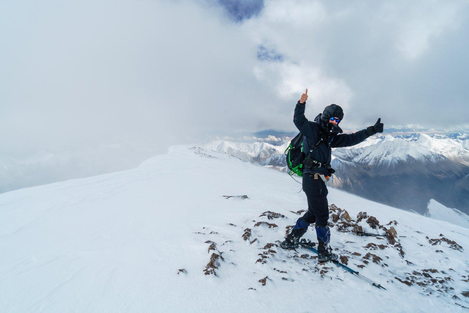 Phil on the summit of Mount Drummond.