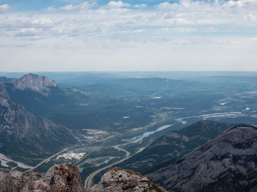Mount Yamnuska is always distinctive at left with the not-at-all distinctive Engagement Mountain at lower right.